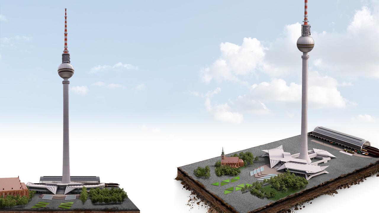 Alexanderplatz 3D Infographic