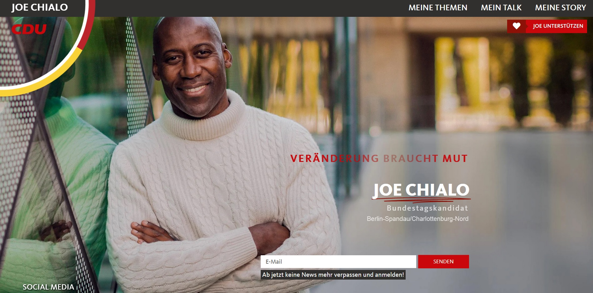 Custom webdesign for Joe Chialo